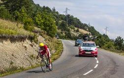 O ciclista Luis Angel Mate Mardones imagens de stock