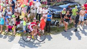 O ciclista Luis Angel Mate Mardones em Colo du Glandon - visite o de imagens de stock royalty free