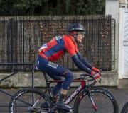 O ciclista Luka Pibernik - 2018 Paris-agradável imagens de stock royalty free