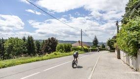 O ciclista Luke Rowe - Critério du Dauphine 2017 Fotografia de Stock Royalty Free