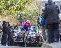 O ciclista Marko Kump - 2016 Paris-agradável Imagens de Stock Royalty Free