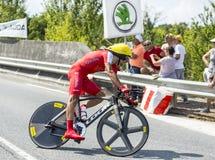 O ciclista Mate Mardones - Tour de France 2014 fotografia de stock royalty free