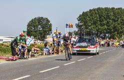 O ciclista Maxime Monfort Fotografia de Stock Royalty Free