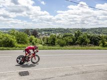O ciclista Michael Morkov - Critério du Dauphine 2017 Foto de Stock Royalty Free