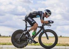 O ciclista Michael Rogers Foto de Stock Royalty Free