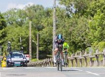 O ciclista Michal Kwiatkowski - Critério du Dauphine 2017 Imagens de Stock Royalty Free