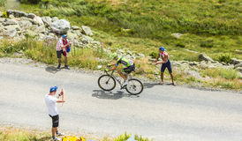 O ciclista Ramunas Navardauskas - Tour de France 2015 Imagens de Stock