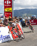 O ciclista Romain Bardet Imagem de Stock Royalty Free