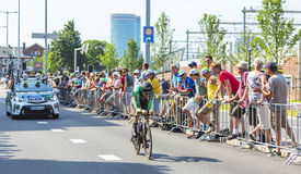 O ciclista Romain Sicard - Tour de France 2015 Imagem de Stock Royalty Free