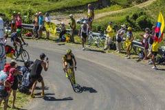 O ciclista Romain Sicard - Tour de France 2016 Fotos de Stock