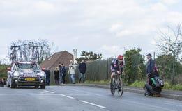 O ciclista Roy Curvers - 2016 Paris-agradável Foto de Stock