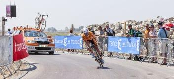 O ciclista Ruben Perez Moreno Fotos de Stock