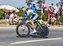 O ciclista Simon Clarke Imagem de Stock