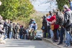 O ciclista Simon Yates - 2016 Paris-agradável Imagens de Stock