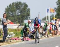 O ciclista Sylvain Chavanel Foto de Stock Royalty Free