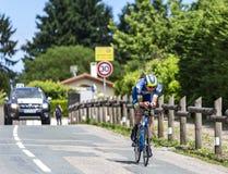 O ciclista Yoann Offredo - Critério du Dauphine 2017 fotografia de stock