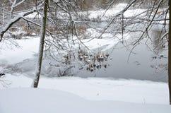 O ciclone Daniella trouxe a queda de neve Fotografia de Stock
