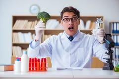 O cientista do doutor que recebe o prêmio para sua descoberta da pesquisa Fotos de Stock