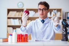 O cientista do doutor que recebe o prêmio para sua descoberta da pesquisa fotos de stock royalty free
