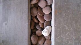 O cimento e a pedra pavimentam papéis de parede e fundos da textura Imagem de Stock