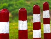 O cimento vermelho & branco fez a fotografia do fundo do objeto Fotografia de Stock