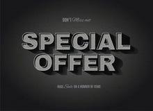 O cinema retro denominou o sinal da oferta especial Fotografia de Stock Royalty Free