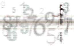 O cinza abstrato numera o fundo Fotografia de Stock Royalty Free