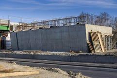 O ckenbaustelle do ¼ de Brà concreted recentemente a cabeça de ponte com apoios para s Foto de Stock Royalty Free