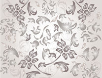 O clássico shinny o teste padrão do ornamento da flor Ilustração do Vetor