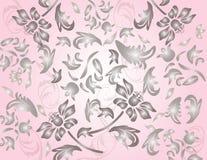 O clássico shinny o teste padrão do ornamento da flor Ilustração Royalty Free