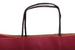Claret da compra, sacos claret-coloridos do presente e maçã isolados Imagens de Stock Royalty Free