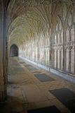 O claustro na catedral de Gloucester Imagens de Stock