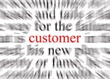 O cliente focalizou Imagem de Stock Royalty Free