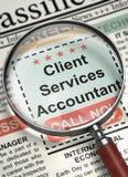 O cliente presta serviços de manutenção ao contador Wanted 3d Fotografia de Stock Royalty Free
