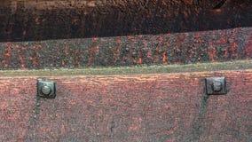 O clinquer do navio de Viking construiu o detalhe com pregos Fotos de Stock