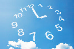 3 O'Clock in cloud style Stock Photos
