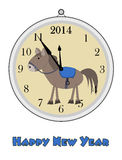 12 o'clock - Happy New Year. 2014 Stock Images