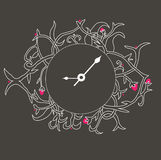 O clock illustration. Oclock illustration / vintage / abstract clock Royalty Free Stock Photos