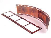 O Close-up de 35 milímetros película-descasca imagem de stock