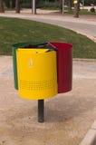 O close-up de colorido de recicla o lixo imagem de stock
