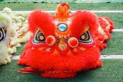 O close-up de Dragon Head vermelho, dança do dragão é um formulário da dança tradicional e do desempenho na cultura chinesa imagem de stock