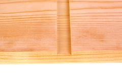 O close-up de uma placa com um sulco dos dado do woodworking isolou-se imagem de stock royalty free