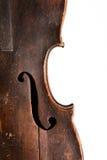O Close-up disparou de um fretboard e de um soundhole da guitarra acústica Foto de Stock Royalty Free