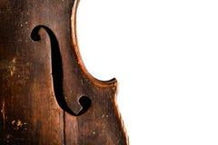 O Close-up disparou de um fretboard e de um soundhole da guitarra acústica Imagem de Stock Royalty Free