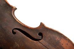 O Close-up disparou de um fretboard e de um soundhole da guitarra acústica Imagens de Stock