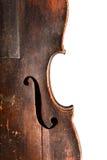 O Close-up disparou de um fretboard e de um soundhole da guitarra acústica Fotos de Stock