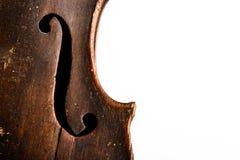 O Close-up disparou de um fretboard e de um soundhole da guitarra acústica Fotografia de Stock Royalty Free
