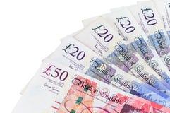 O close up do inglês martela cédulas Imagens de Stock Royalty Free