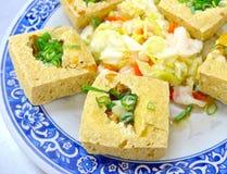 O close up do tofu fedido fritado Fotos de Stock Royalty Free