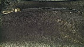 O close-up masculino de couro caro preto da bolsa Foto de Stock